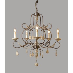 5-Light Chandelier By Ophelia & Co.