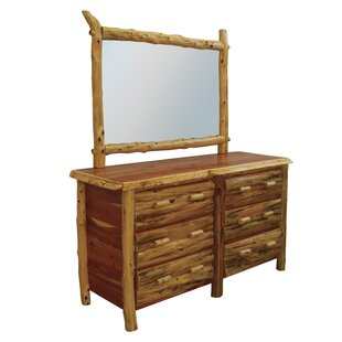 Detroit 6 Drawer Double Dresser with Mirror