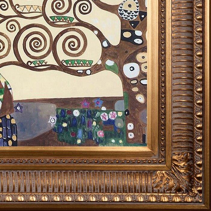 La Pastiche Expectation Metallic Embellished Artwork By Gustav Klimt With Regal Gold Frame