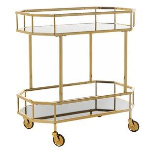 Beaminster Octagon Bar Cart by Everly Quinn