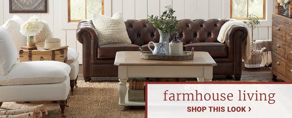 Shabby Glam Living Room Rustic Furniture Decor Joss Main