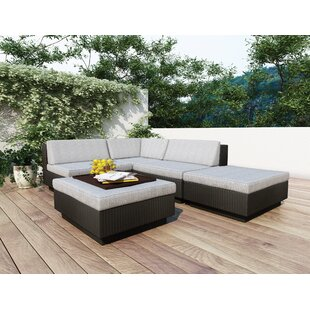 Park Terrace 5 Piece Sectional Set with Cushions