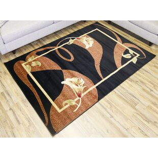 Purchase Elif/Passion Black Area Rug By Bekmez International Inc.
