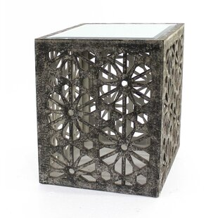 Aspasia Floral Wooden End Table