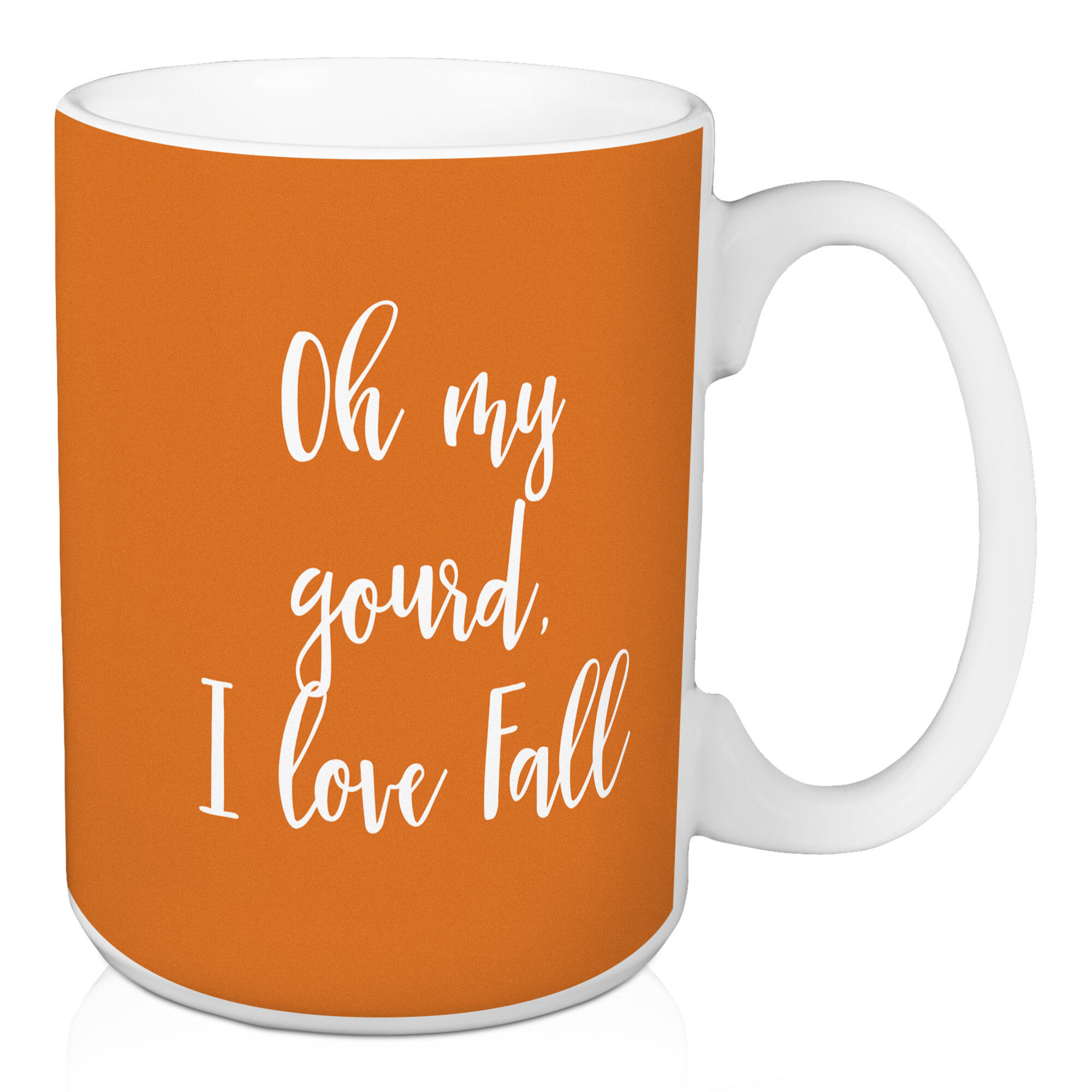 Winston Porter Lotti Oh My Gourd I Love Fall Coffee Mug Wayfair