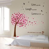 Daryl Huge Pink Tree and Classic Live Laugh Love Wall Decal