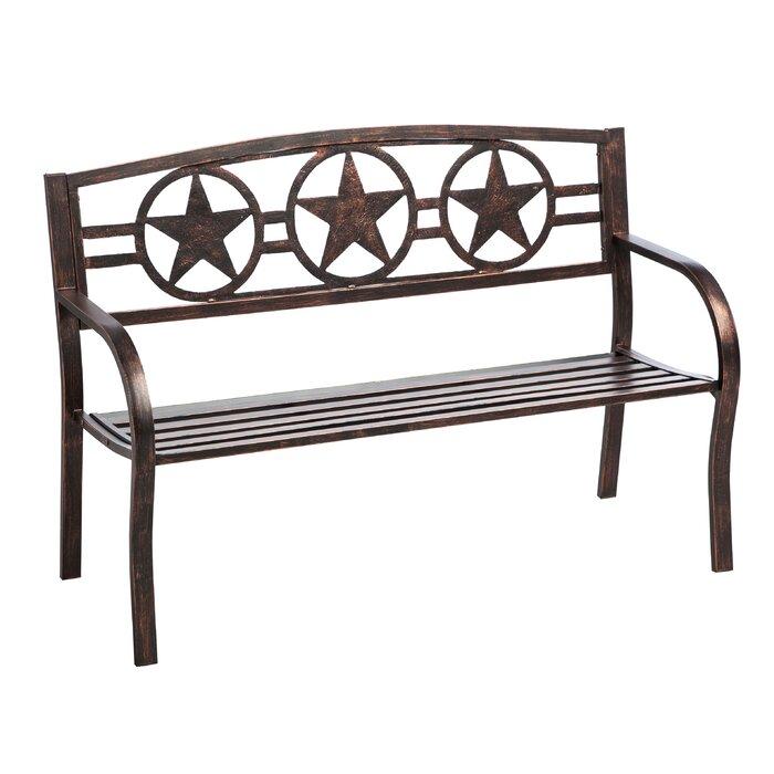 Amazing Colchester Three Star Metal Garden Bench Andrewgaddart Wooden Chair Designs For Living Room Andrewgaddartcom