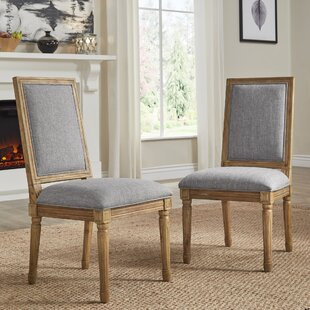 Lachance Rectangular Upholstered Dining Chair (Set of 2) Ophelia & Co.