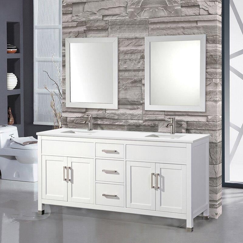 Olwanda 84 Double Sink Bathroom Vanity Set Reviews Birch Lane