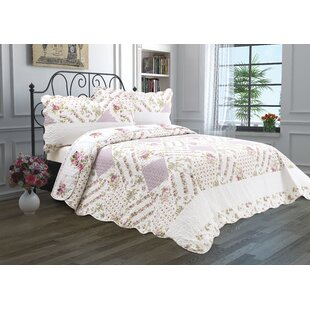Lucky Flower Garden Reversible Quilt Set