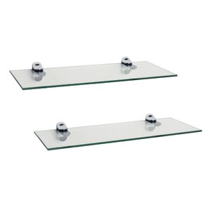 troian rectangle glass floating shelf set of 2