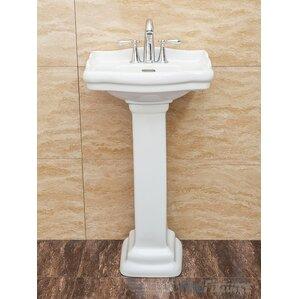pedestal bathroom sinks. Roosevelt Vitreous China 19  Pedestal Bathroom Sink with Overflow Sinks You ll Love