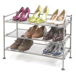 6 Tier 18 Pair Stackable Shoe Rack Set Of 2