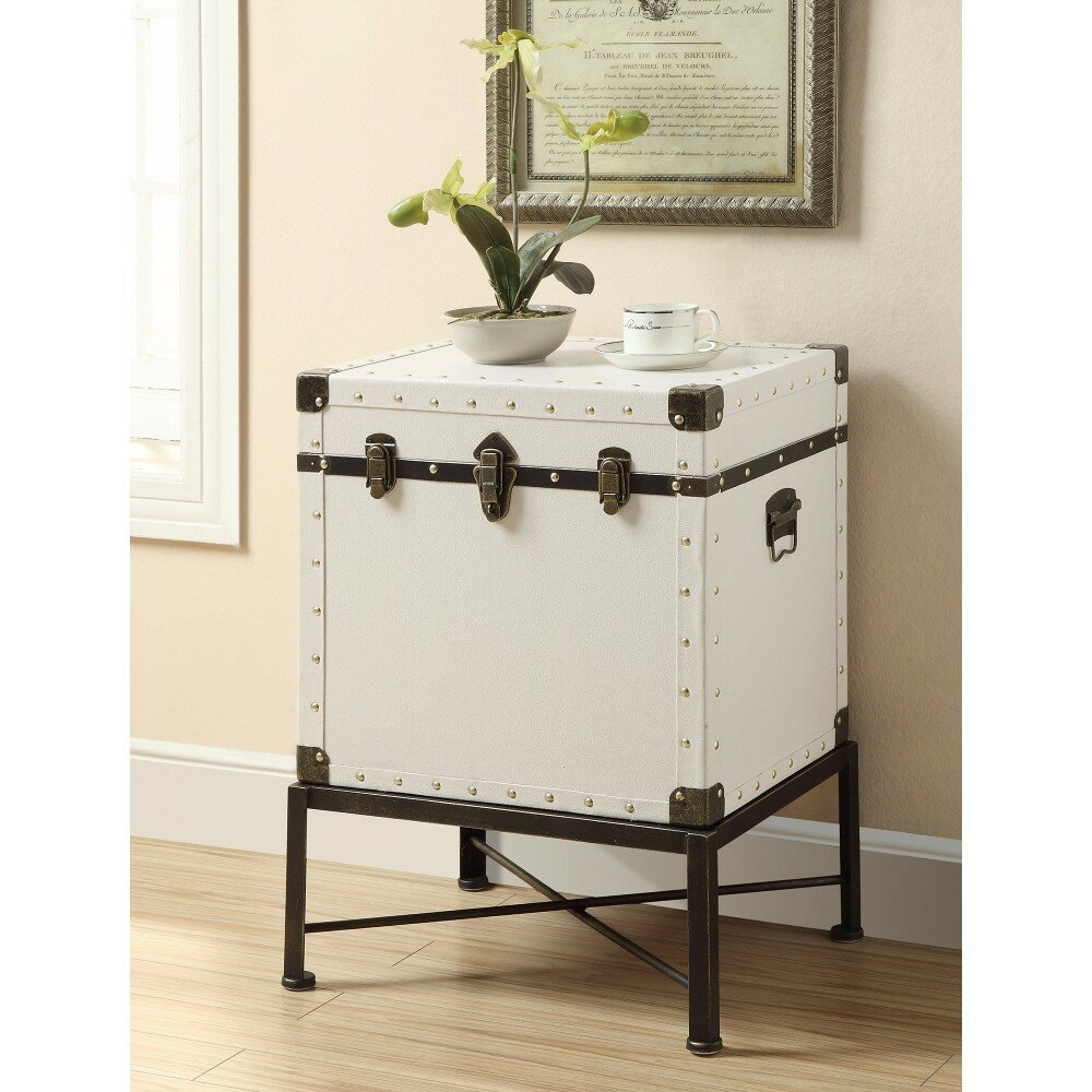 - 17 Stories Evan Trunk Style Accent End Table With Storage Wayfair