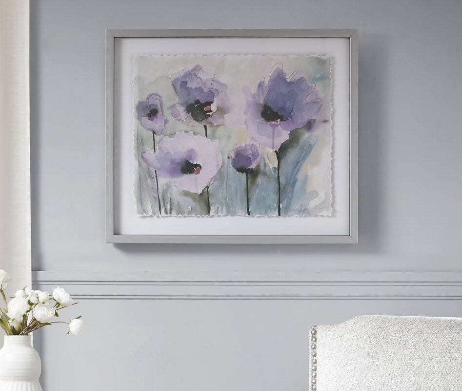 'Blooming Spring' Framed Graphic Art Print on Glass