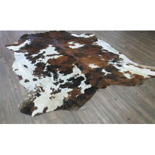 Shop for Lynnfield Hand Woven Cowhide Brown/White Area Rug ByLoon Peak