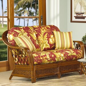 Coco Cay Leather Loveseat by Boca Rattan