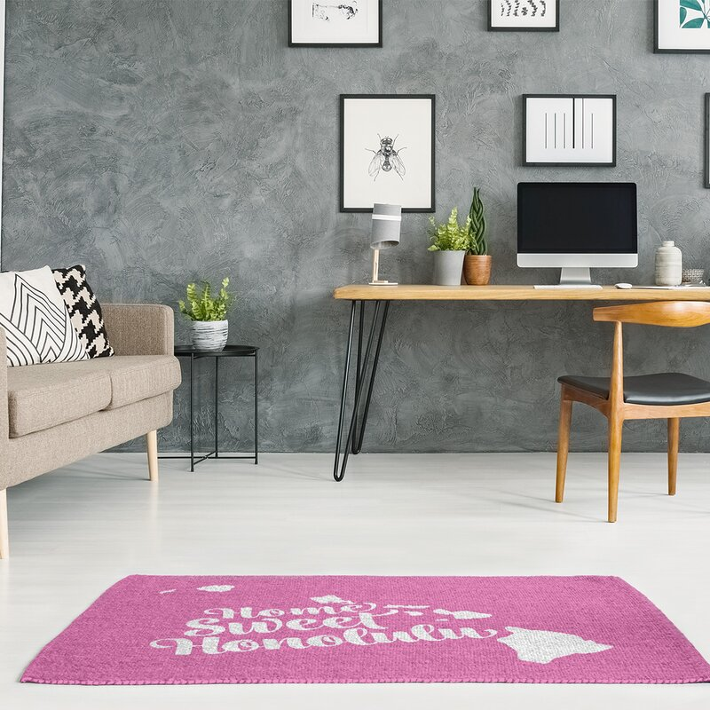 Honolulu Hawaii Pink Area Rug