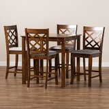 Amishi 5 - Piece Counter Height Dining Set by Red Barrel Studio®