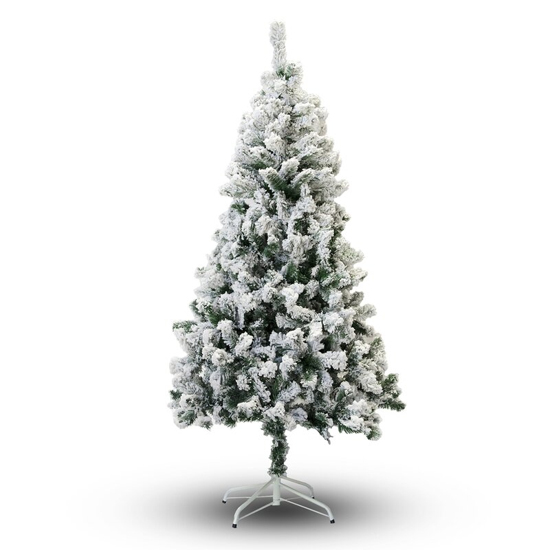 Snow Flocked 4' White/Green Spruce Trees Artificial Christmas Tree by The Holiday Aisle