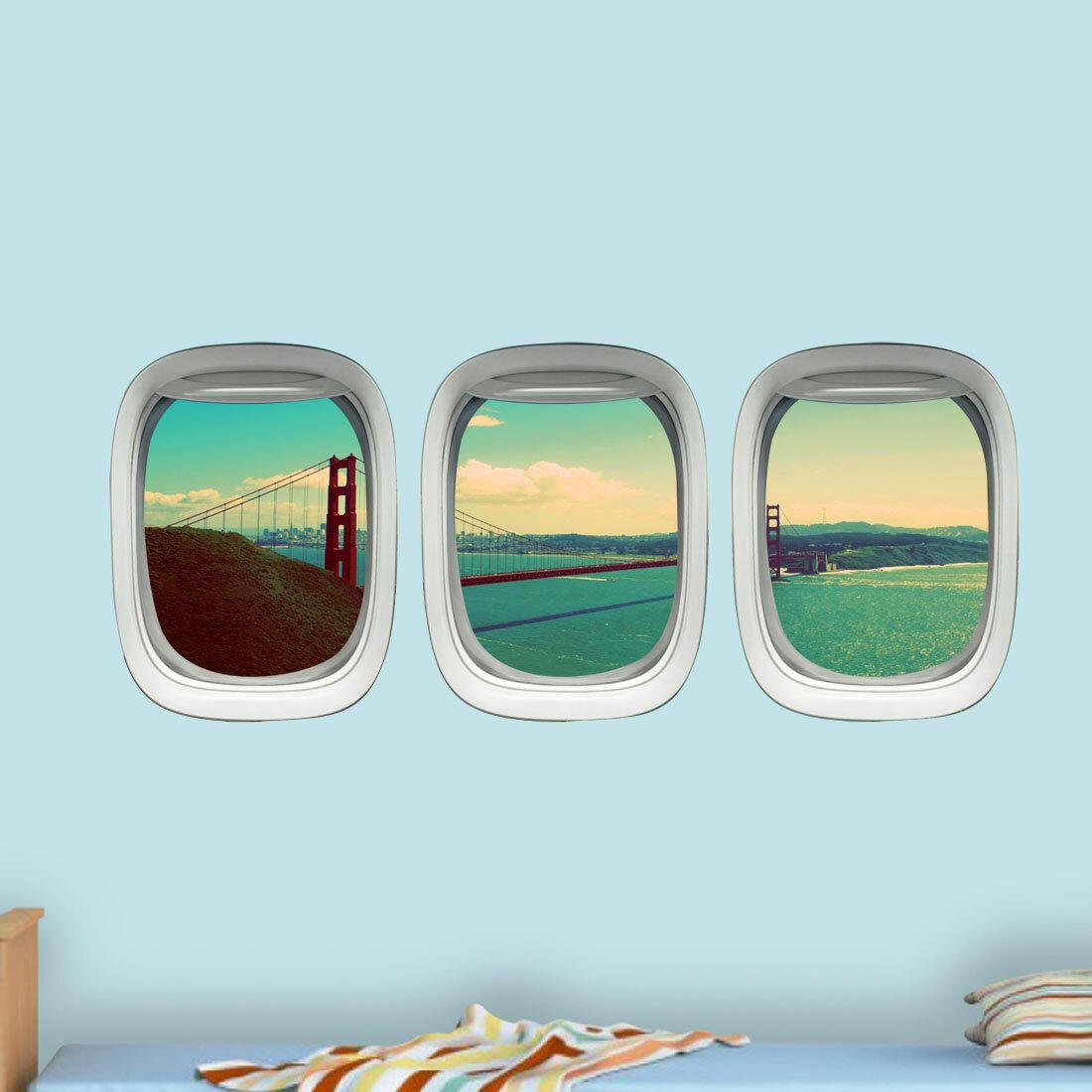 Airplane Window Golden Gate Bridge