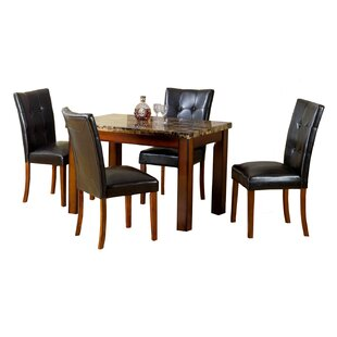 Aldama 5 Piece Dining Set Hazelwood Home