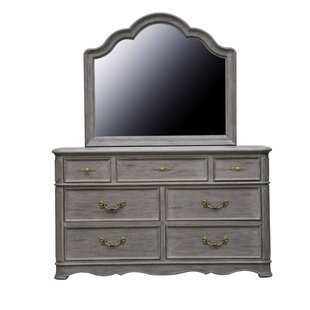 Yasmine 7 Drawer Double Dresser with Mirror
