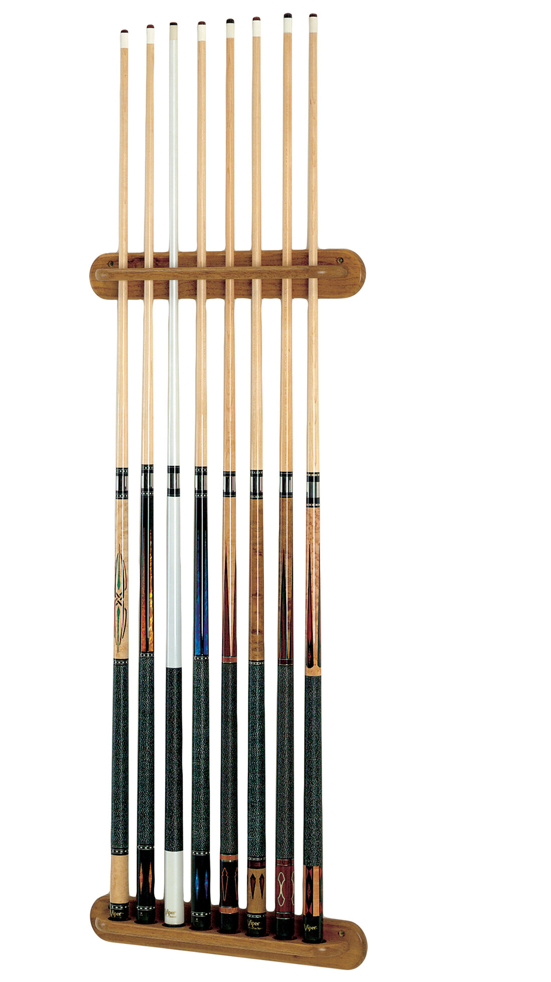 Traditional 8 Cue Viper Wall Rack