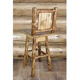 Debbi Swivel Solid Wood 30 Bar Stool by Loon Peak®