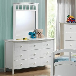 Giese 6 Drawer Dresser with Mirror by Harriet Bee
