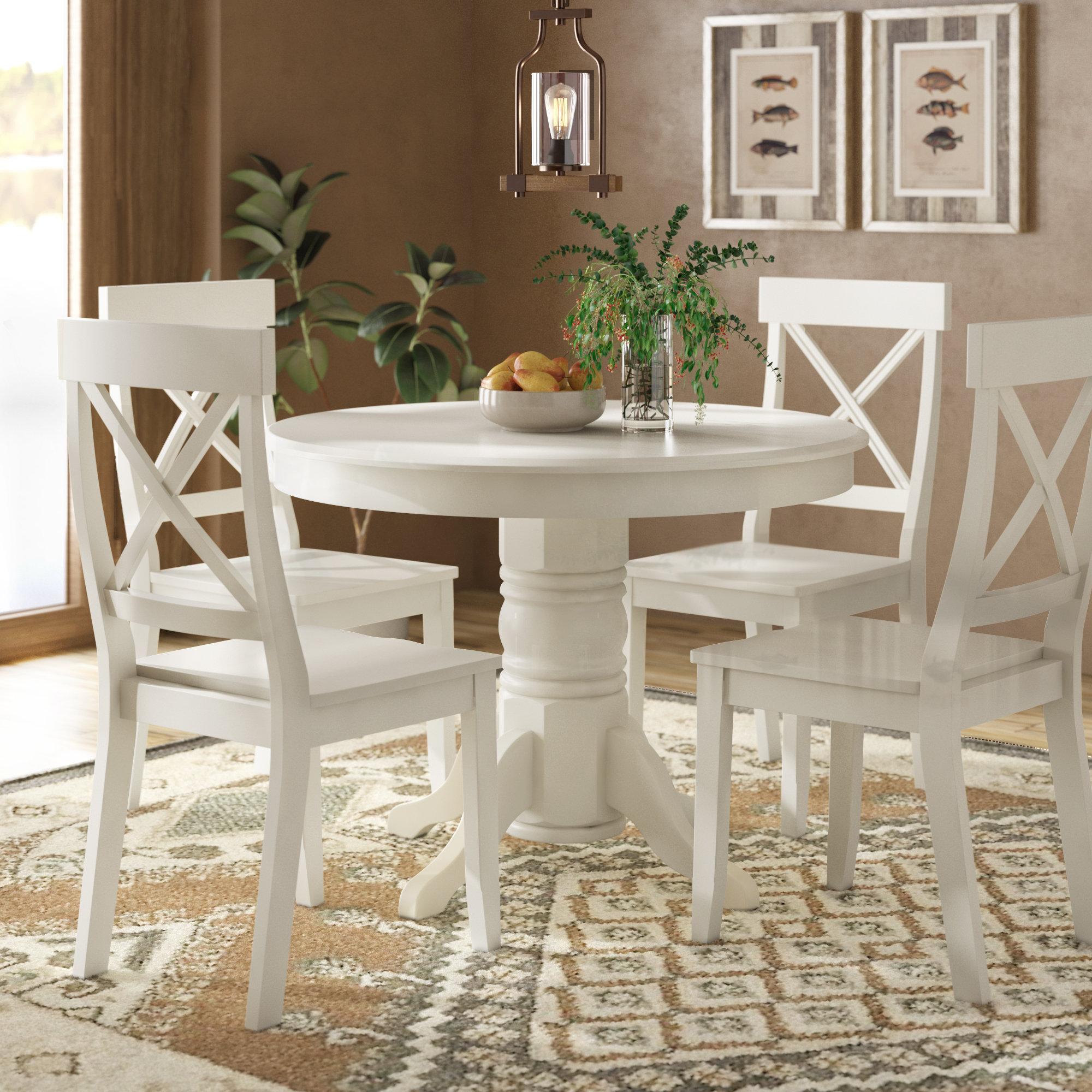 Standridge 9 - Piece Solid Wood Dining Set