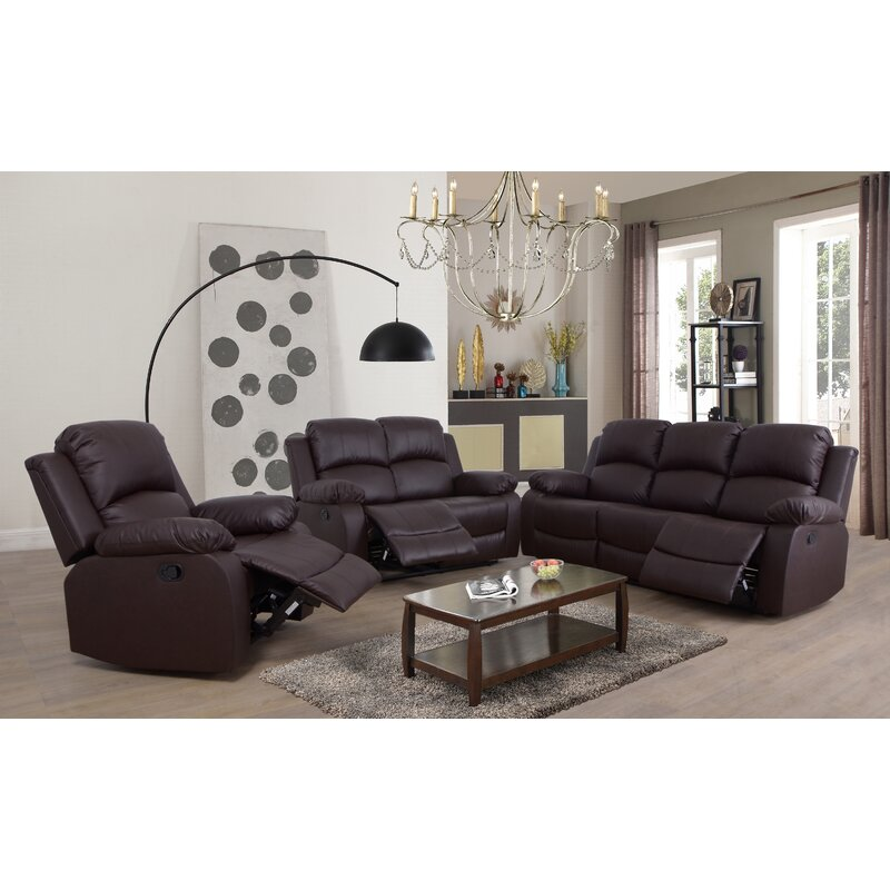 Red Barrel Studio® Murchison 3 Piece Reclining Living Room Set