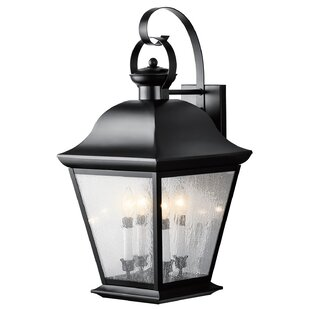 Reviews Darrah 4-Light Outdoor Wall Lantern By Three Posts
