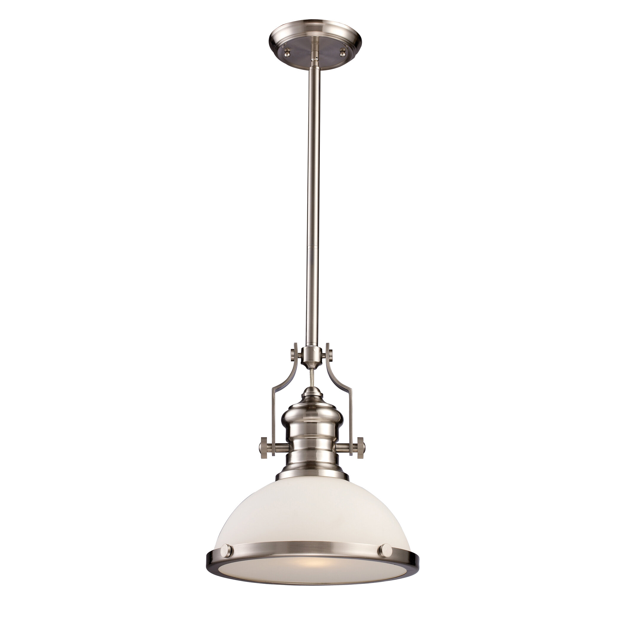 pendant the brushed b depot lights light nickel n lighting hampton home bay af warehouse