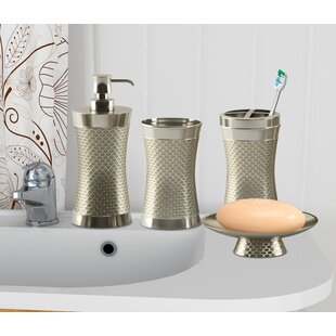 Top Reviews Haylon Brushed 4 Piece Bathroom Accessory Set By Everly Quinn