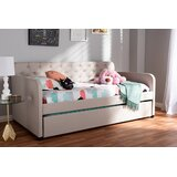 Gadde Polyester Fabric Upholstered Tufted Twin Daybed with Trundle by Winston Porter