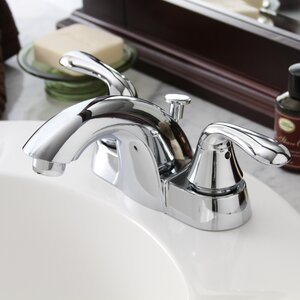 Waterfront 2 Handle Centerset Bathroom Faucet with Optional Pop-Up Drain