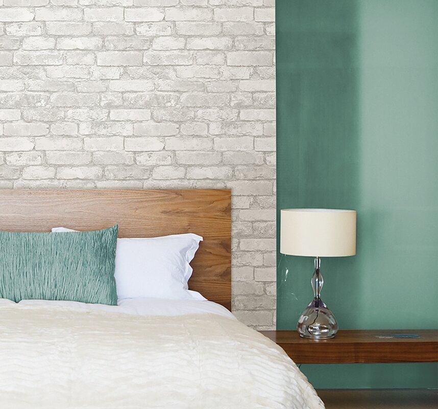 5 5m L X 52cm W Brick Wood And Stone Roll Wallpaper
