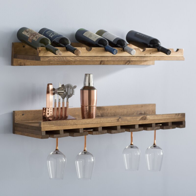 Berlyn  Bottle Wall Mounted Wine Rack Set