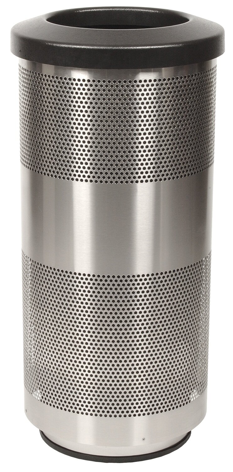 Witt Stadium Series Perforated Metal 20 Gallon Trash Can Wayfair