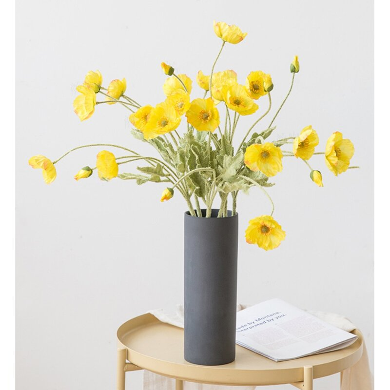 Gracie Oaks Silk Flower Poppy Stem Reviews Wayfair