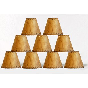 6 Faux Leather Empire Candelabra Shade with Trim (Set of 9)