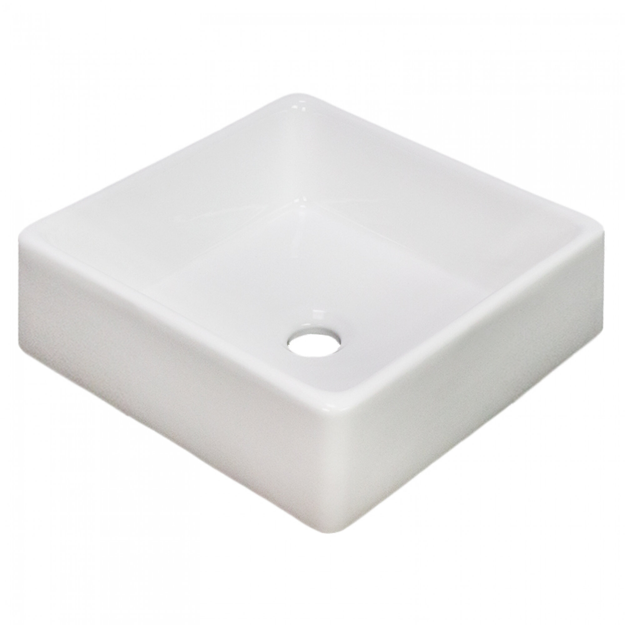 American Imaginations 15 2 W Above Counter White Vessel For Wall Mount Drilling Wayfair