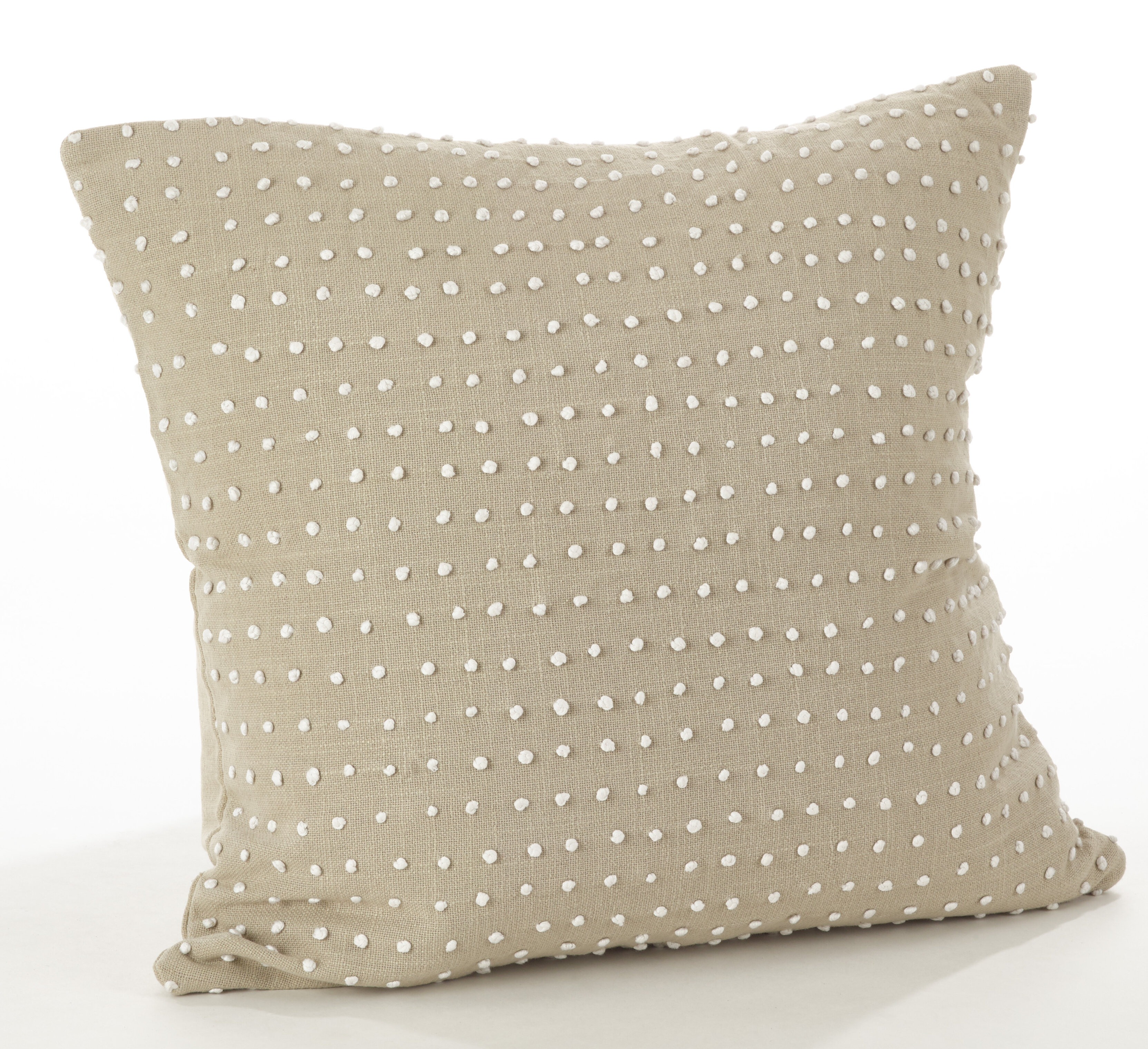 Gracie Oaks Halverson French Knot Cotton Throw Pillow Wayfair