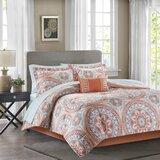Daisetta Geometric 7 Piece Comforter Bed-in-a-bag