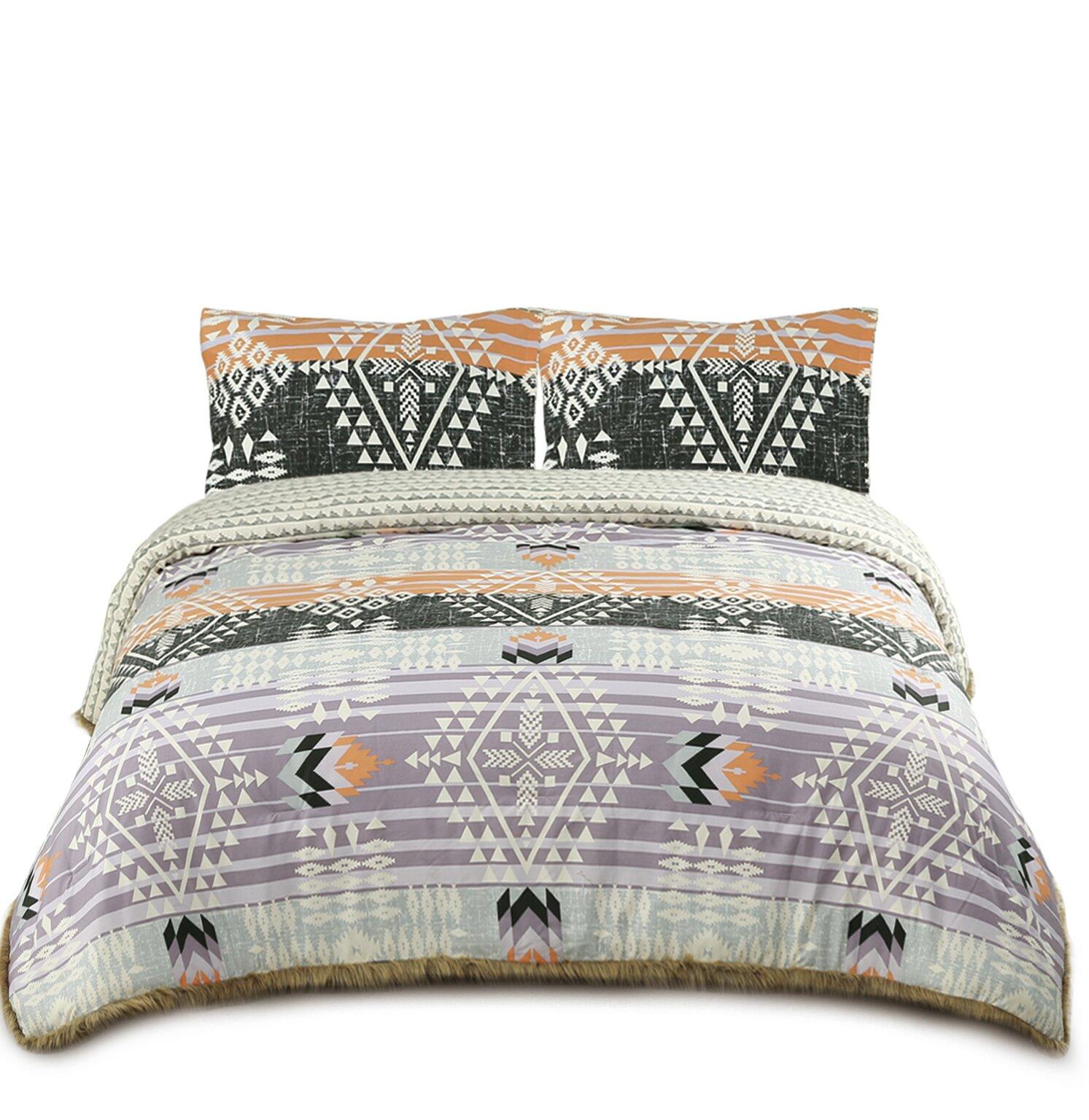 Foundry Select Clinkscales Geometric Comforter Set Reviews Wayfair