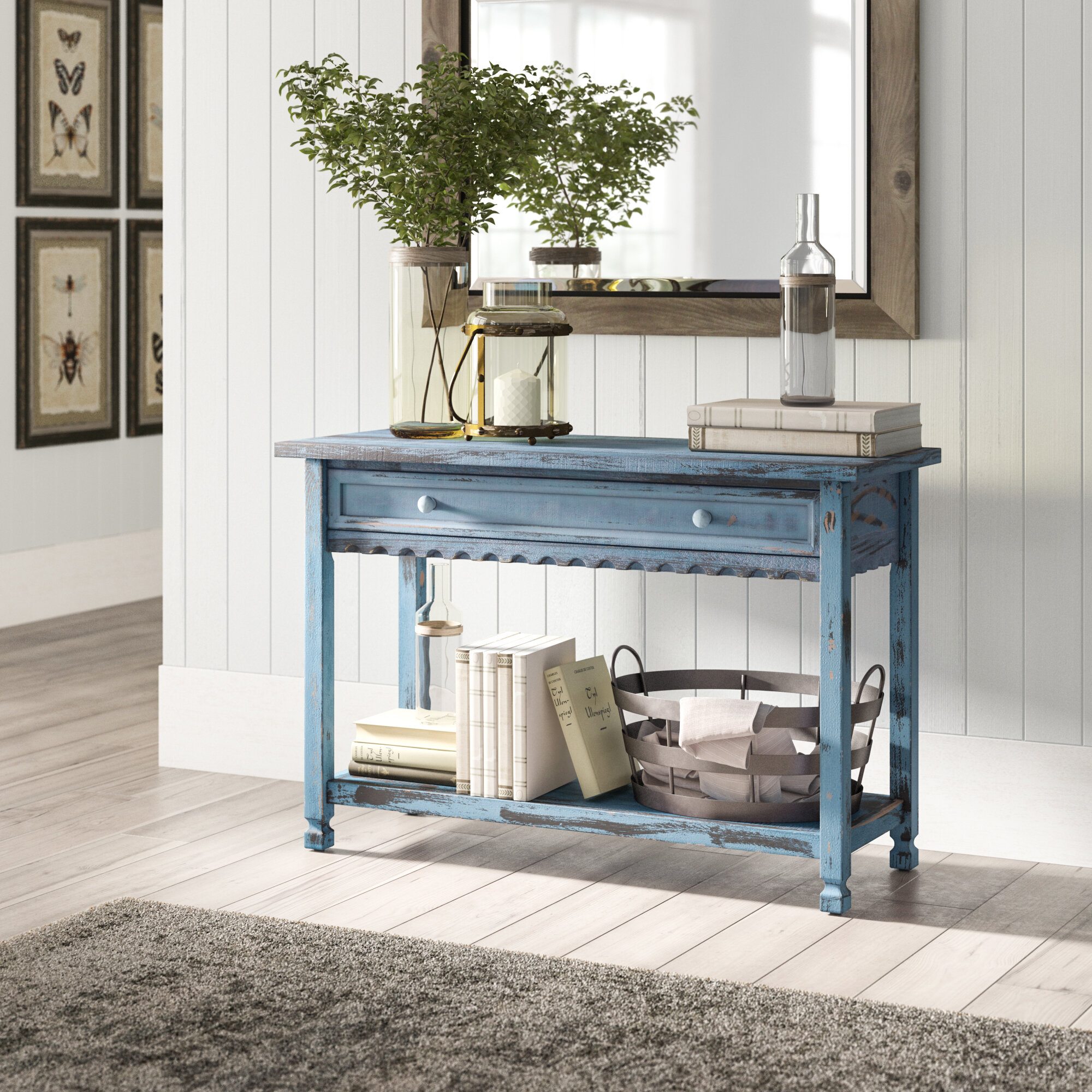 Birch Lane Lengby 42 Solid Wood Console Table Reviews Wayfair