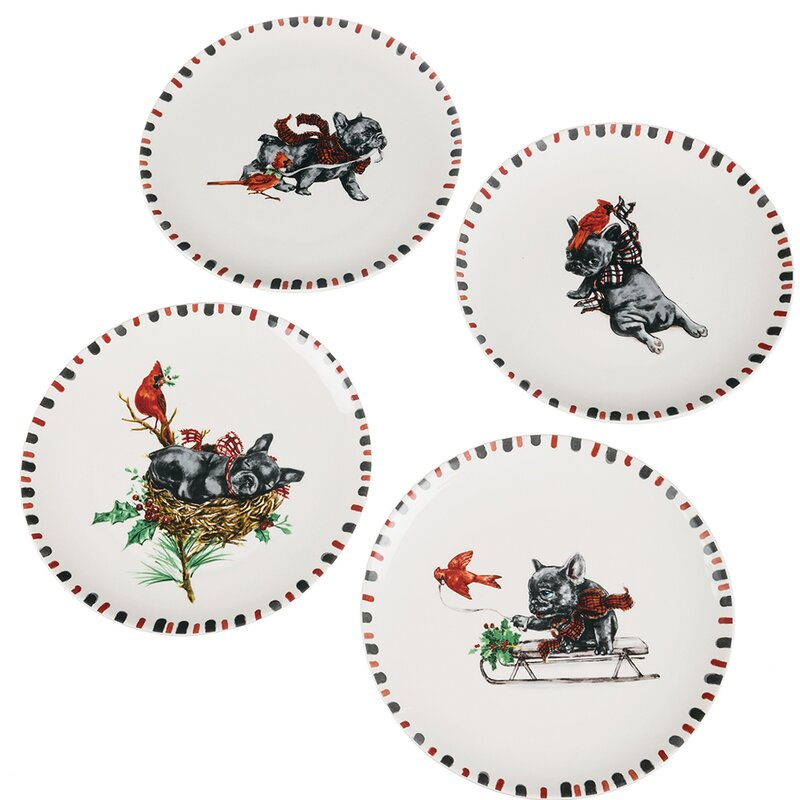 4 Piece Dog Cardinal Decorative Plate Set  sc 1 st  Wayfair & The Holiday Aisle 4 Piece Dog Cardinal Decorative Plate Set | Wayfair