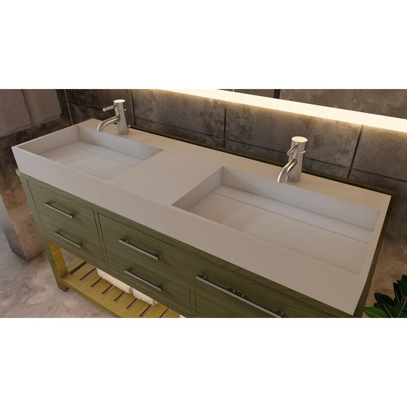 Double Bathroom Vanity Top