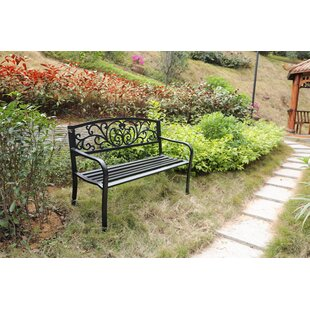 Caudell Powder Coated Steel Park Bench